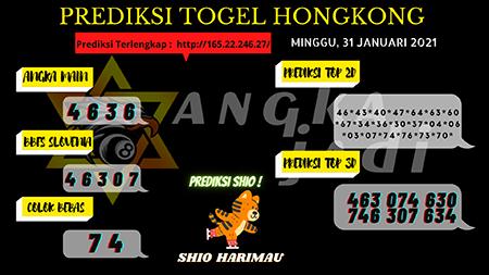 Prediksi jumlah pasti lotere di Hong Kong pada hari Minggu, 31 Januari 2021