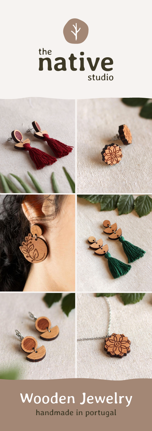 The Native Studio Handmade Vegan Wooden Jewelry
