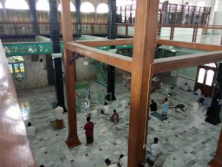 Sekilas potren dari lantai atas yayasan masjid besar Al Muttaqin Kaliwungu