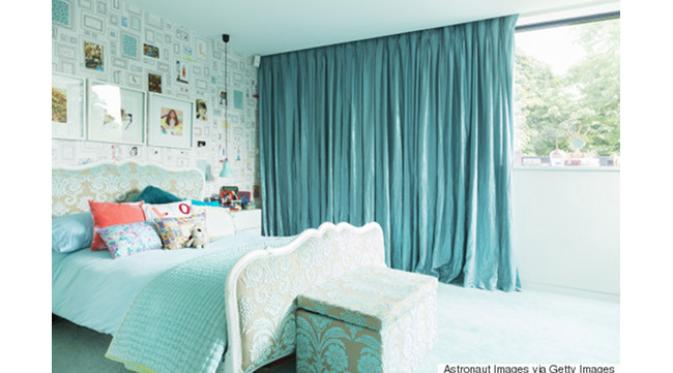 55 dekorasi kamar tidur sederhana warna cat biru