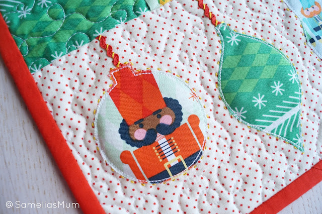 Nutcracker Ornament Table Runner - Pattern by Anorina Morris