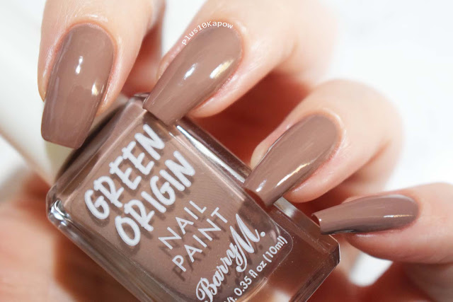 Barry M Green Origin collection swatches Mushroom