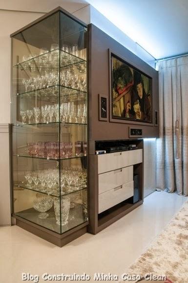 Construindo minha casa clean 35 cristaleiras lindas na for Casa moderna under 35