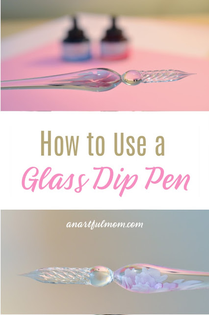 Using a glass dip pen