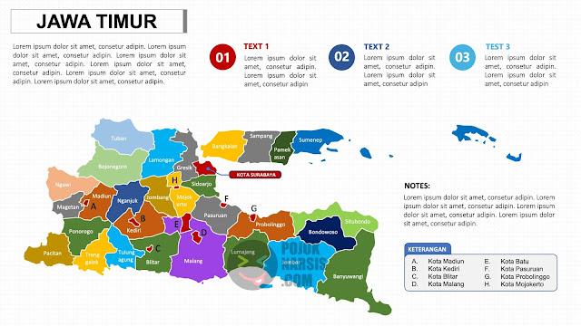 Peta Provinsi Jawa Timur PPTX Powerpoint