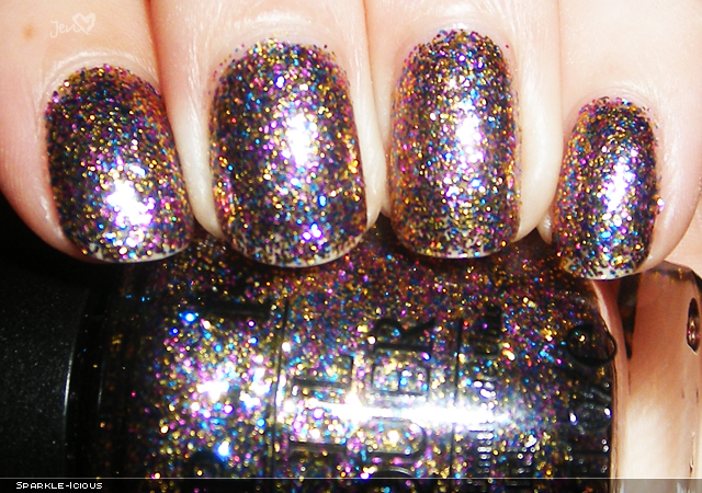 xoxoJen's swatch of OPI Sparkle-icious