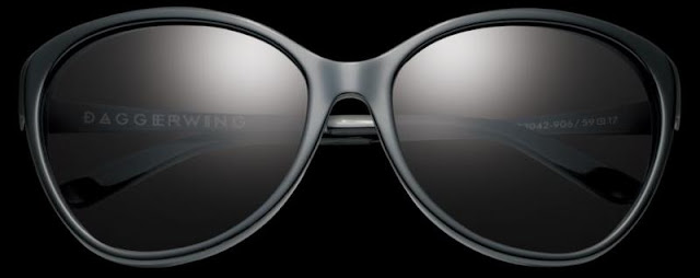 IVI Daggerwing Sunglasses in Polished Black