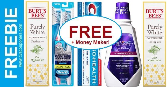 FREE Burt's Bees, Crest, & Oral B CVS Deal 9-22-9-28