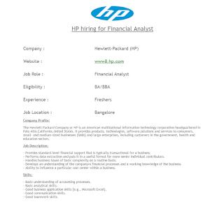 HP Hirings