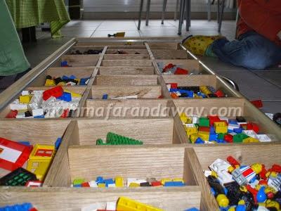 scatola in legno per Lego