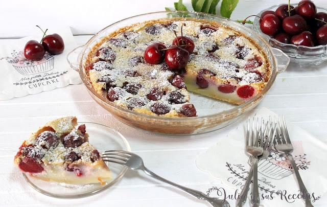 Clafoutis de cerezas. Julia y sus recetas