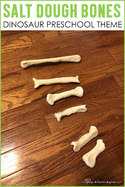 Salt Dough Dinosaur Bones