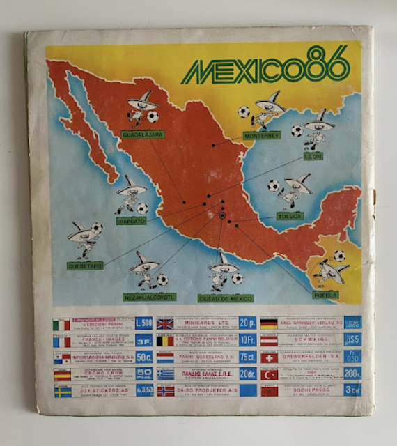 Album Panini Mexico '86