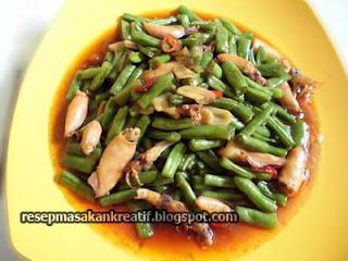 Satu lagi perpaduan materi kuliner yang lezat untuk diolah dan dipadukan dalam sebuah masak RESEP BUNCIS CAH CUMI ASIN