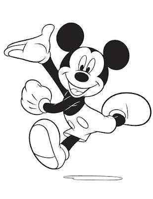 Gambar Mewarnai Mickey Mouse - 4