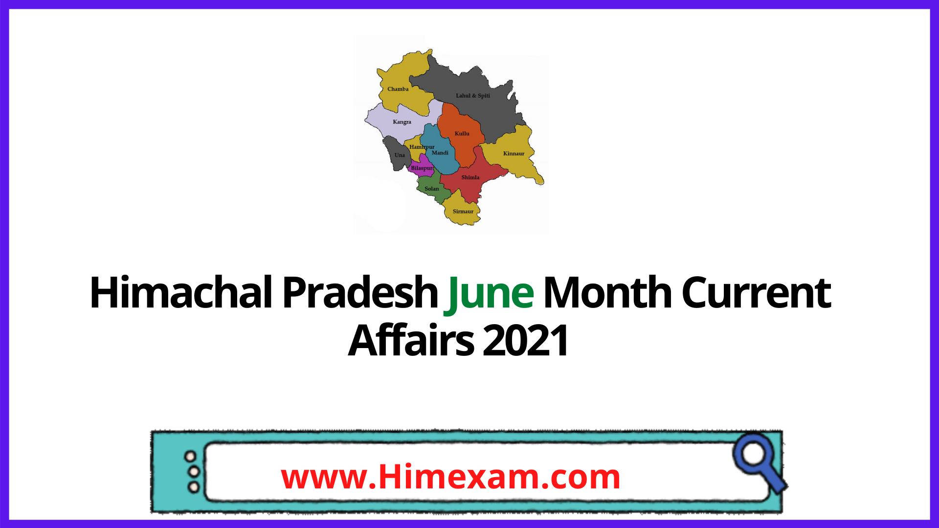 Himachal Pradesh June Month Current Affairs 2021 In English