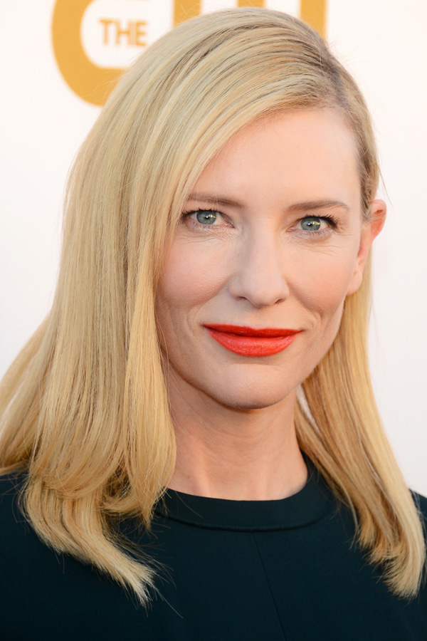 orange is the new black, orange lip, cate blanchett