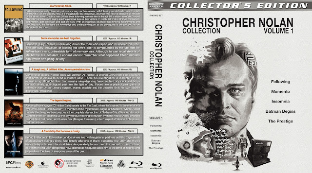 Christopher Nolan Collection - Volume 1 Bluray Cover