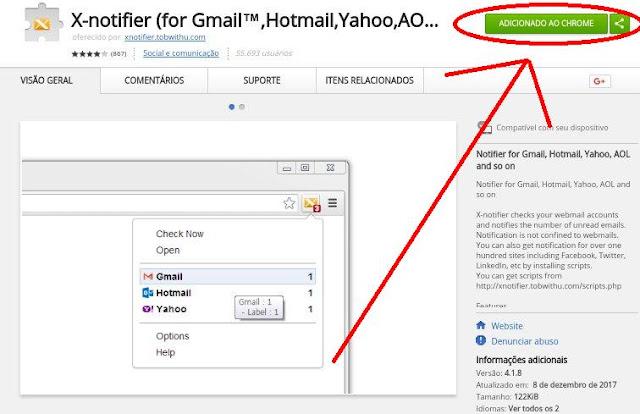 Como saber que chegou um e-mail