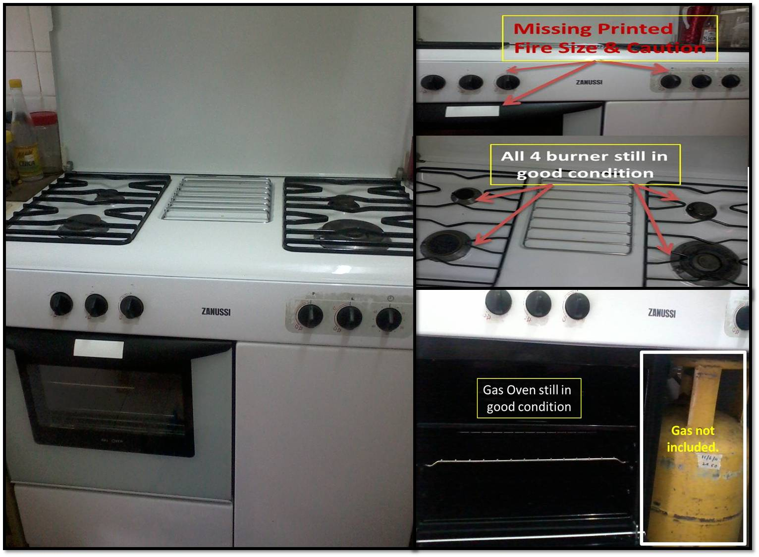 Smart Home Bizz Used Gas Cooker For Fast