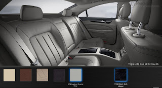 Nội thất Mercedes CLS 400 2016 màu Xám Crystal 218