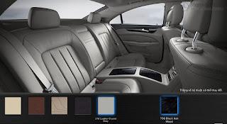 Nội thất Mercedes CLS 400 2017 màu Xám Crystal 218