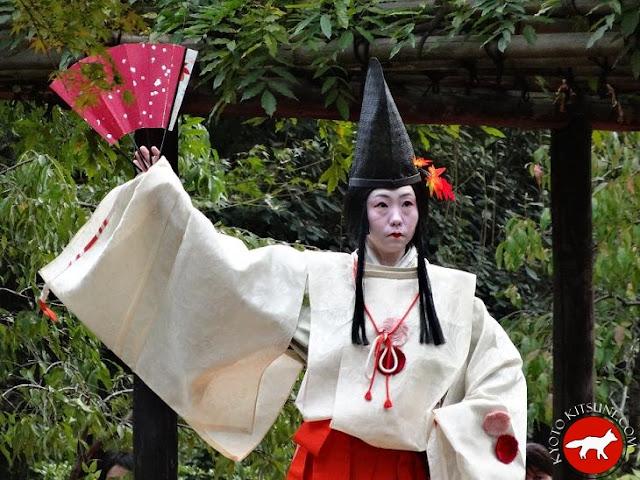 Noble de l'époque Heian au temple jonangu de Kyoto