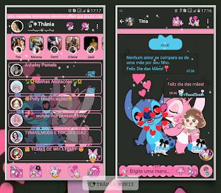 Stitch Love Theme For YOWhatsApp & KM WhatsApp By Thania