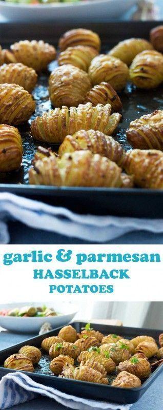 Mini #garlic #& #parmesan #hasselback #potatoes