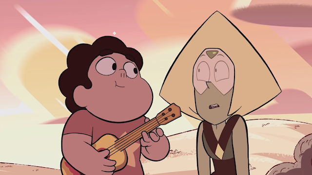 Steven, bestowing his wisdom on Peridot