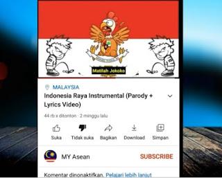 "Polisi Malaysia Buru Pemilik Chanel MY Asean terkait ""Pelecehan Lagu Indonesia Raya, Jokowi Masuk Neraka"""