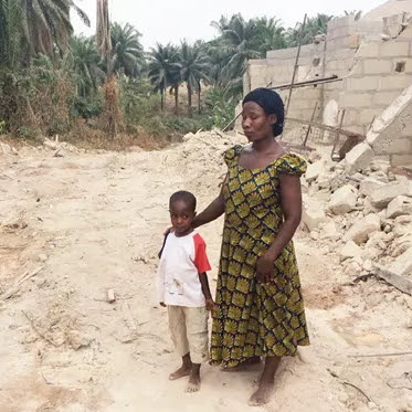 widow house demolished ebonyi state