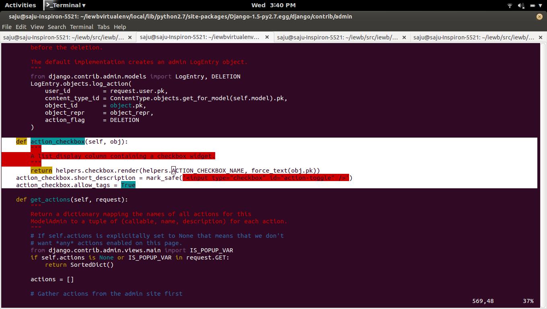 fosshelp: Django ModelAdmin ActionForm action_checkbox
