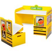 Sesame Street School Bus Desk And Bench Set