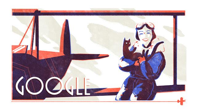 Jean Batten's 107th birthday - Google Doodle