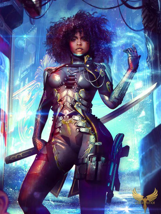 Eddy Shinjuku artstation deviantart arte ilustrações mulheres ficção científica cyberpunk