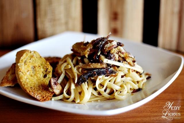 Tuyo and Mushroom Pasta at Sulok Cafe Antipolo City YedyLicioous Manila Food Blog