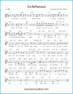 chord i'm old fashioned lagu jazz standar