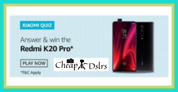 Amazon Xiaomi Quiz Answers – Win Redmi K20 Pro