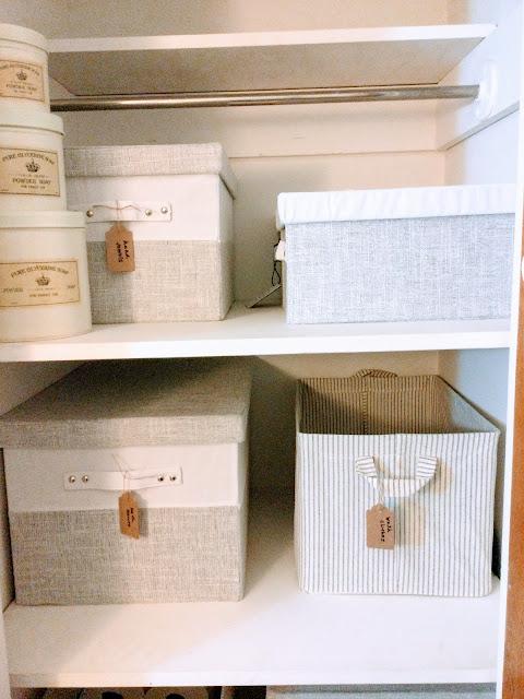 How to organize your bathroom closet
