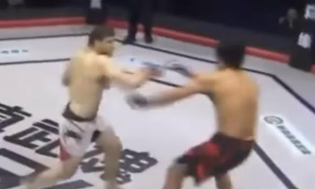Peleador de la MMA noquea a su contrincante en tres segundos