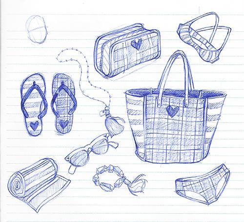flip-flops, jewelry, bracelet, tassels, swimwear, sunnies, sunglasses