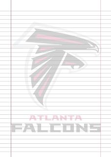 Papel Pautado Atlanta Falcons PDF para imprimir na folha A4