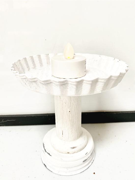 white painted lantern base