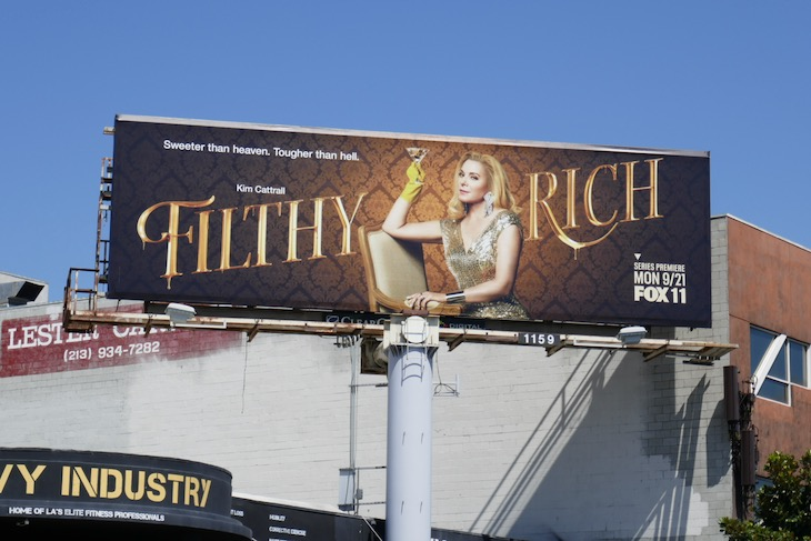 Filthy Rich series launch billboard