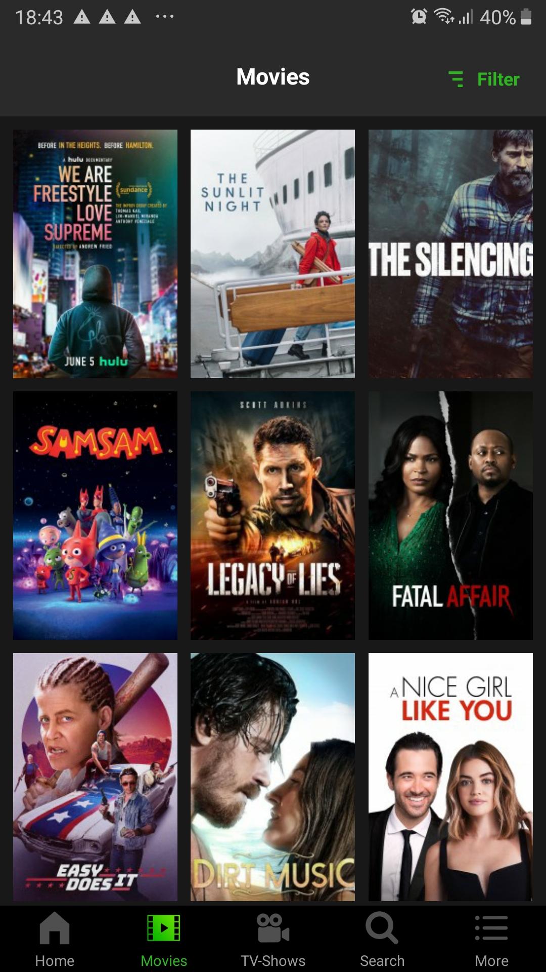 شاهد جميع محتوى Netflix متعدد الجودات على تطبيق CineHub مع جميع لغات الترجمة على الأندرويد
