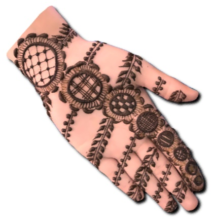 Arabic Easy Mehndi Design for front hand