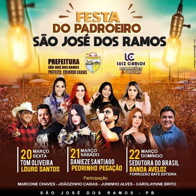 SÃO JOSÉ DOS RAMOS: Programação Oficial da Festa do Padroeiro de São José.