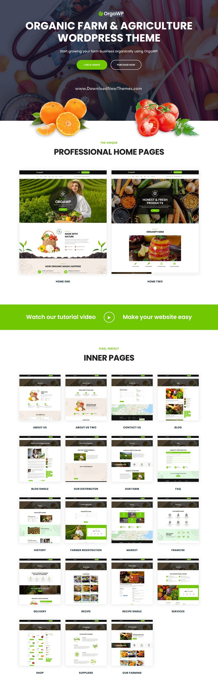 Organic Farm & Agriculture WordPress Theme