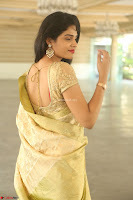 Harshitha looks stunning in Cream Sareei at silk india expo launch at imperial gardens Hyderabad ~  Exclusive Celebrities Galleries 042.JPG